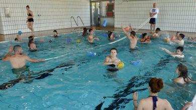 13.07.2017: Im Schwimmbecken der Jagsttalschule