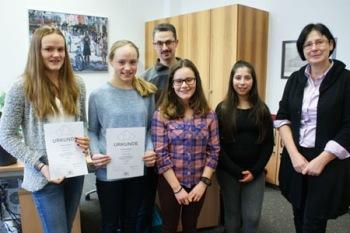 Erster Preis im Landeswettbewerb Mathematik für Geschwister Bopp vom SG