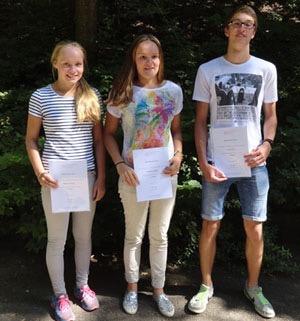 Bundeswettbewerb Mathematik - Marianna, Katharina und Tobias haben erfolgreich teilgenommen