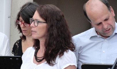 Der Lehrerchor beim Schulfest, Juli 2016