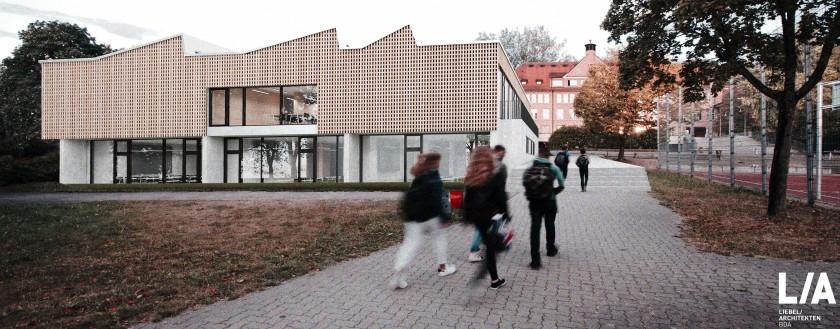Der neue Fachbau am SG: spannende Räume für junge Forscher (Stand: Nov. 2016)