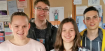 Mal studieren: Katharina Bopp, Kathrin Ulmer, Tobias Kurz und Tobias Vogel zum Tag der Mathematik an der Uni Ulm