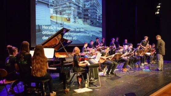 2017: Big Band bei der Versammlung der VR-Bank, Stadthalle Aalen