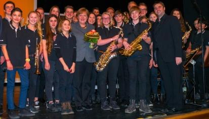 2016: Die SG Big Band rockt die Kanzlerin