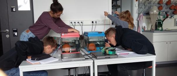 14./15.09.2017: Schülerinnen und Schüler der Kursstufe im XLab in Göttingen