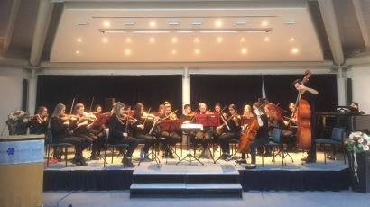 10.01.2018: Das Orchester spielt am Neujahrsempfang im Albstift