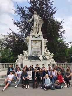 05.05.2018: Die Musiker der Kursstufe lassen sich in Wien inspirieren